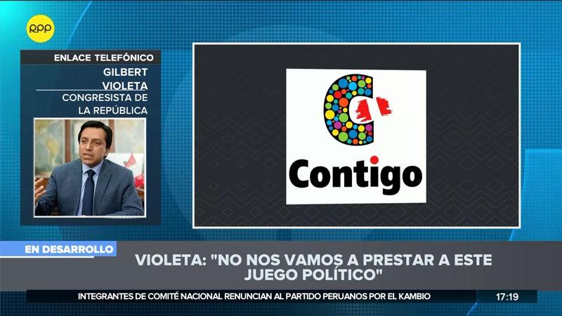 El parlamentario dijo que no se prestarán al juego político de Peruanos por el Kambio.