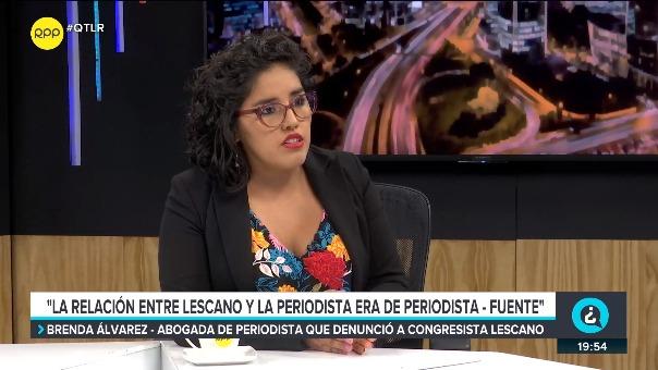 La abogada de la periodista comentó que en reiteradas ocasiones Yonhy Lescano le ofrecía trabajo a su defendida.