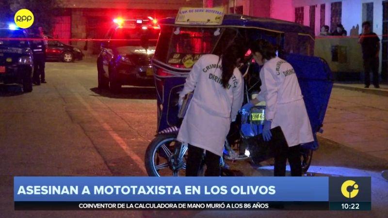 El crimen ocurrió en la urbanización Santa Rosa, en Los Olivos.