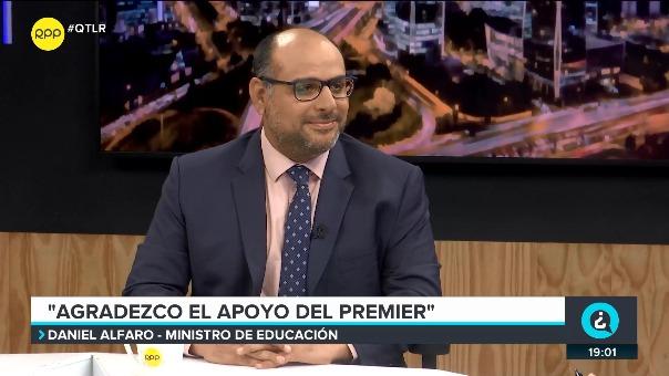 El ministro de Educación, Daniel Alfaro, en Nada Está Dicho por RPP Noticias,
