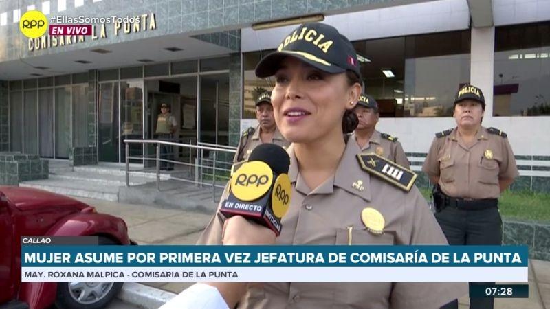 La mayor PNP Rosana Malpica en RPP Noticias.
