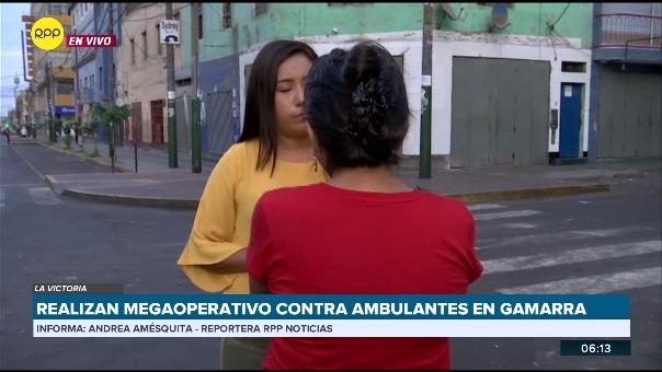 Megaoperativo contra ambulantes en Gamarra