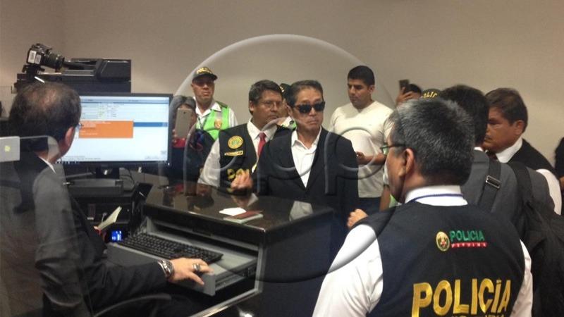 Yoshiyama llegó a Lima pasadas las 11 de la noche del domingo.