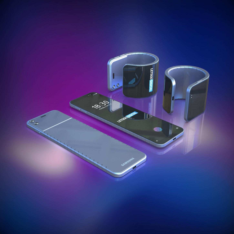 Los extremos del teléfono tienen imanes, que sirven cuando es usado como pulsera. Fuente:LetsGoDigital