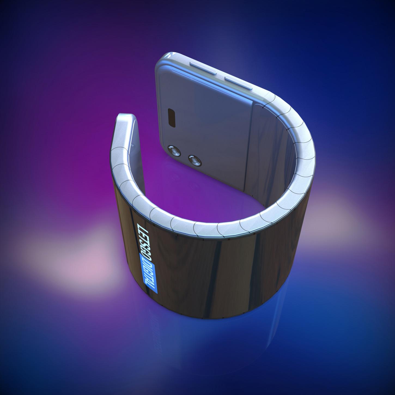 El teléfono flexible puede adoptar la forma de una pulsera. Fuente:LetsGoDigital