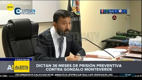 Dictan 36 meses de prisión preventiva contra Gonzalo Monteverde.