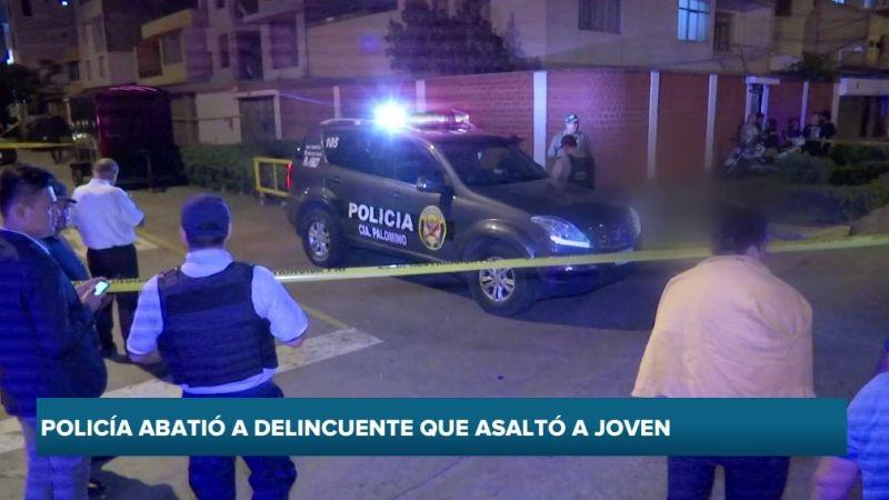 El delincuente abatido fue identificado como Joel Iván Quiñones Flores (24).