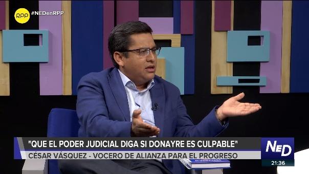 César Vásquez, vocero de APP, estuvo en el programa 'Nada está Dicho' de RPP.