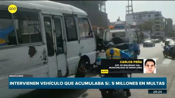 La intervención fue realizada por personal de fiscalización de la Municipalidad de Miraflores.
