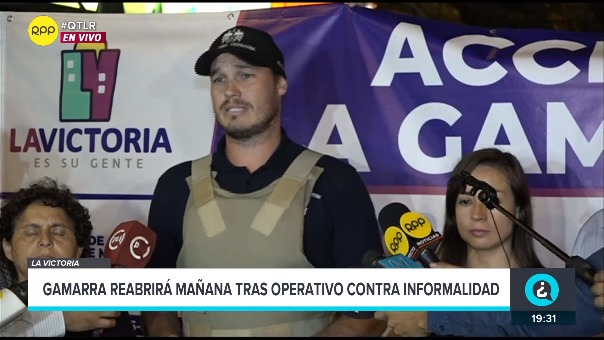 El alcalde de La Victoria brindó detalles del operativo que realizó la Municipalidad y la Policía Nacional en Gamarra.