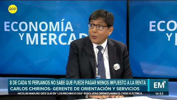 Entrevista a Carlos Chirinos, gerente de Orientación y Servicios de Sunat