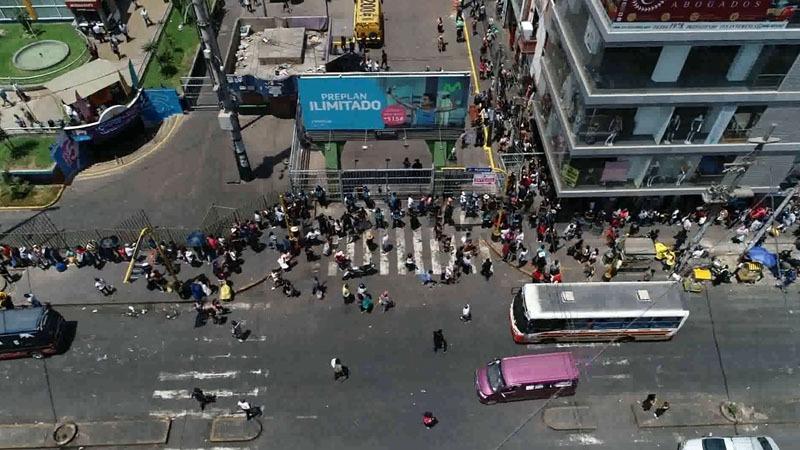 Imágenes aéreas del ingreso a Gamarra por la avenida Prolongación Huánuco.