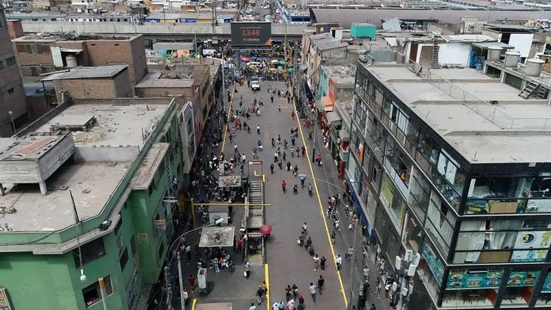 Imágenes captadas de la calle Hipólito Unánue.