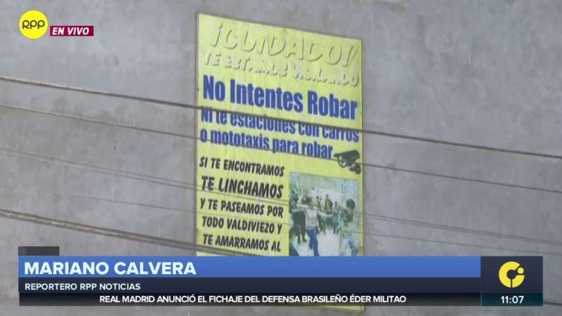 Los vecinos de Valdiviezo aseguraron haber linchado ya a un asaltante.