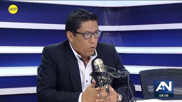 Vicente Zeballos, ministro de Justicia, en entrevista con RPP Noticias.