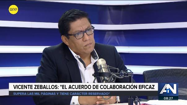Vicente Zeballos, ministro de Justicia, en RPP Noticias.