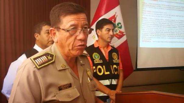 El jefe de la Policía en La Libertad, coronel Freddy Velásquez, señaló que la intervención se realizó de manera conjunta con la Fiscalía.