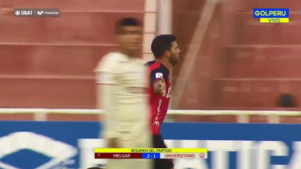 Universitario cayó 2-1 ante Melgar por la Liga 1