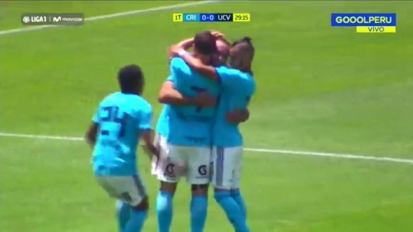 Emanuel Herrera abrió el marcador en el Cristal vs. Vallejo