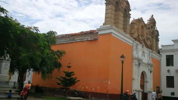 Iglesia La Merced es una de las más afectadas por el clima.