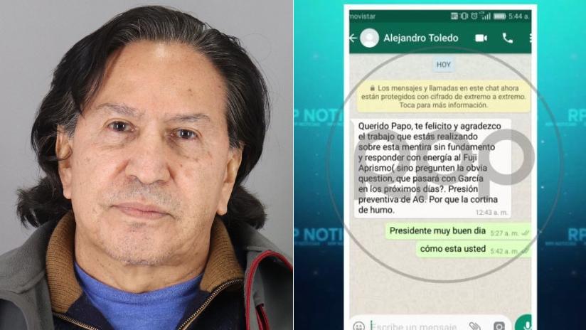 Este es el mensaje enviado desde el celular de Alejandro Toledo.