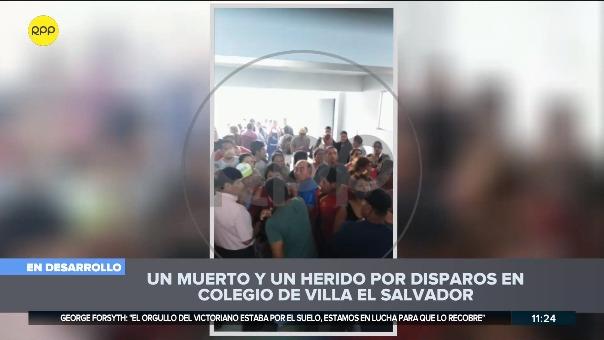 El hecho ocurrió en un colegio de Villa El Salvador.