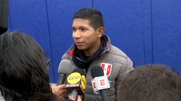 Edison Flores declaró a la prensa este jueves en New Jersey.