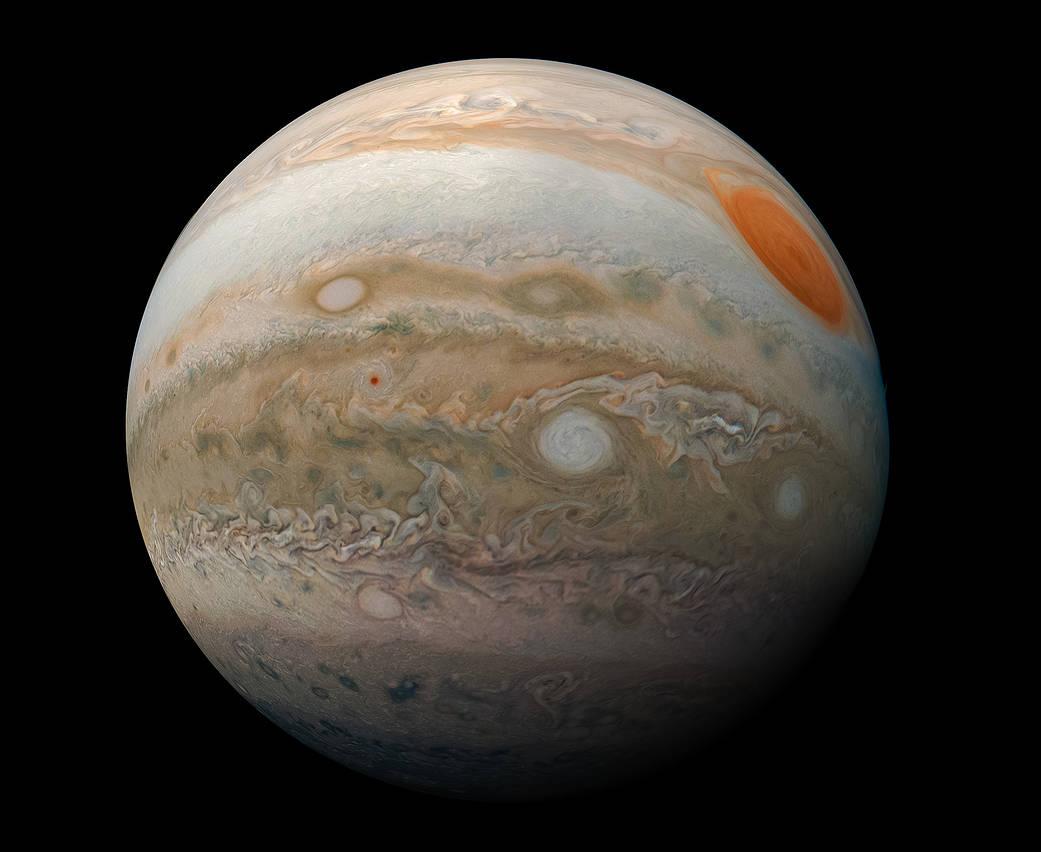 Una bella vista de Júpiter.