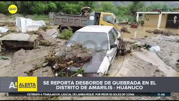 Desborde de quebrada en Huánuco.