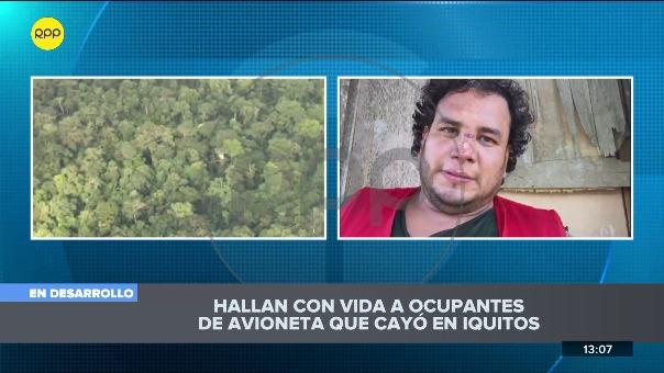 Corresponsal de RPP Noticias en Iquitos tomó contacto con el piloto de la aeronave, quien se salvó de milagro
