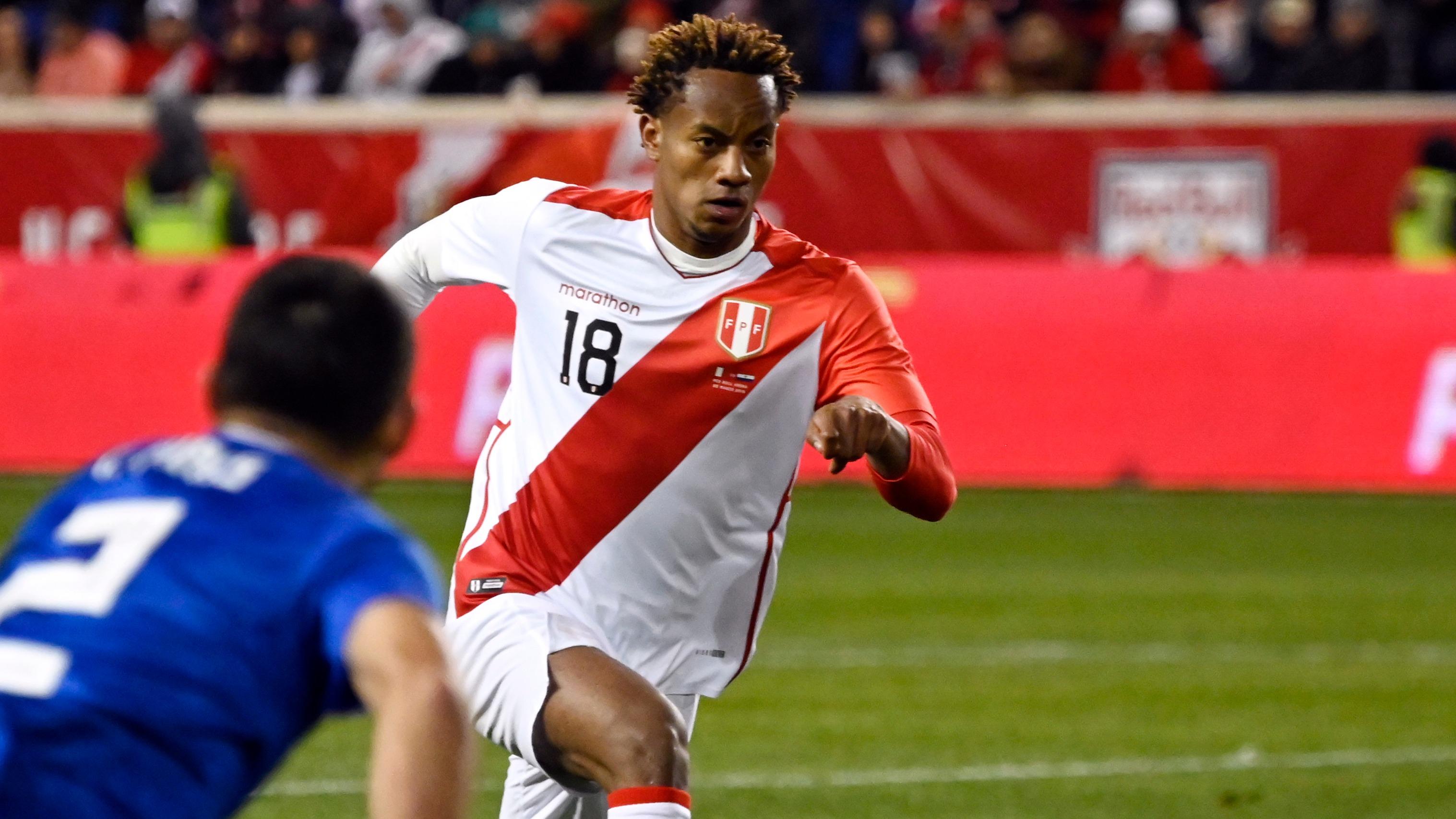André Carrillo suma seis goles anotados con la Selección Mayor Peruana.