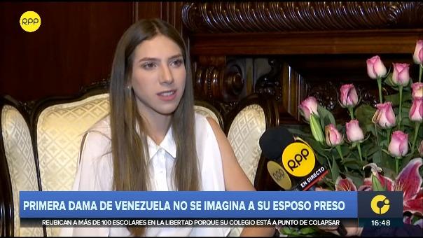 Fabiana Rosales, esposa líder opositor, Juan Guaidó, habló con RPP Noticias.