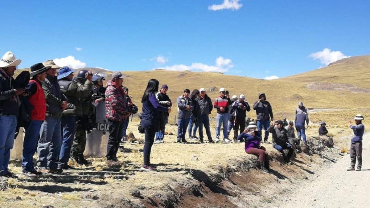 Conflicto por el proyecto minero Las Bambas.