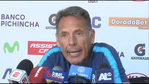 Miguel Ángel Russo habló este miércoles en conferencia de prensa.