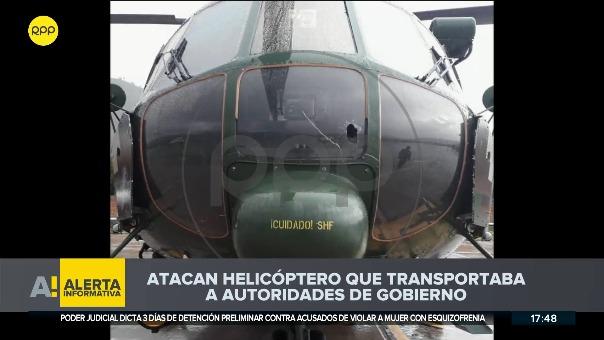 Helicóptero en el que tres ministros viajaban a Yavi Yavi fue atacado con piedras.