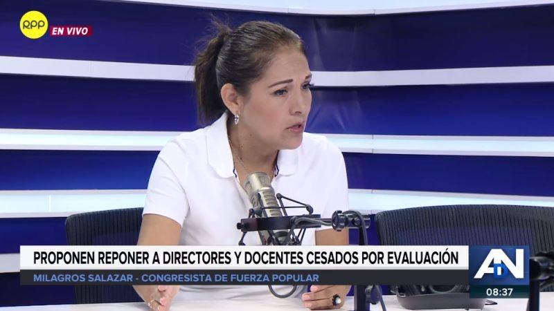 Milagros Salazar estuvo en Ampliación de Noticias.