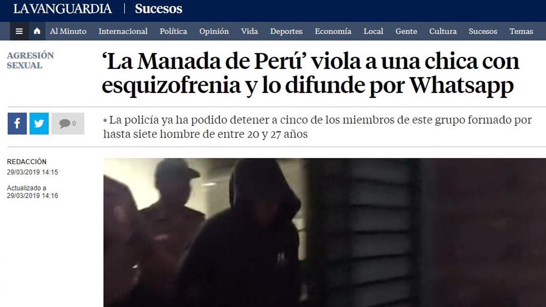La Manada de Perú': El caso de violación grupal en Ica llega a la prensa  internacional | RPP Noticias