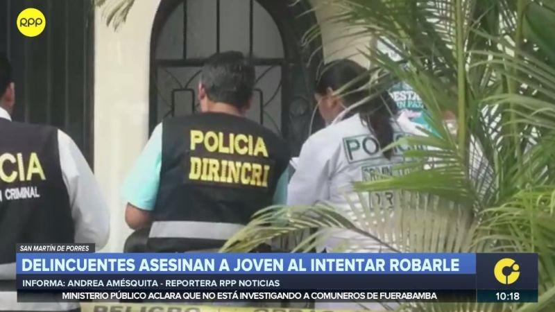 San Martín de Porres | Un joven que se resistió a ser asaltado fue asesinado en la calle | video