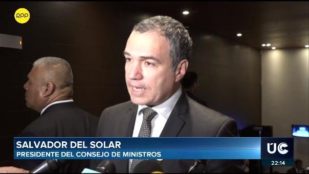 El presidente del Consejo de Ministros, Salvador del Solar.