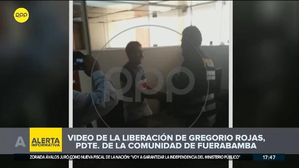 Minutos antes, Rojas Paniura fue avisado de su liberación por efectivos policiales.