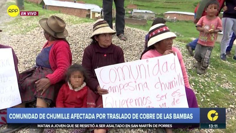 RPP Noticias llegó a la comunidad de Chimille.