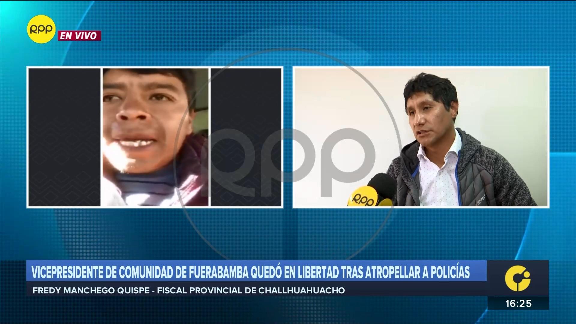 El fiscal dijo que están esperando el resultado del dosaje etílico que se le realizó al dirigente.