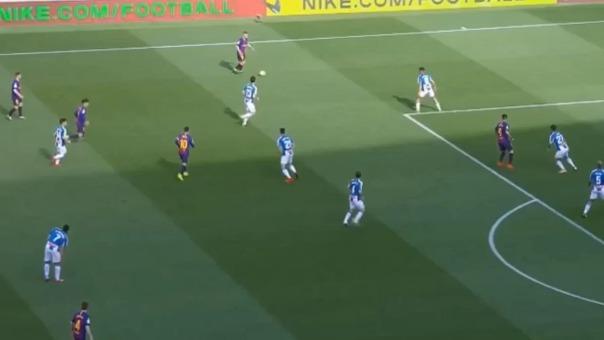 Esta es la jugada de Lionel Messi que está dando que hablar.