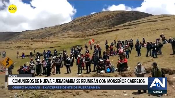 Comuneros de Nueva Fuerabamba se reunirán con el monseñor Cabrejos.