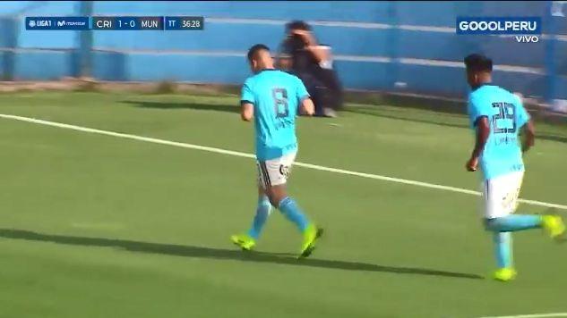 Cristian Ortiz marcó el segundo de Sporting Cristal