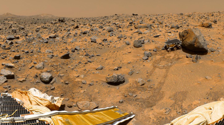 Una imagen de Marte captada por Sojourner.