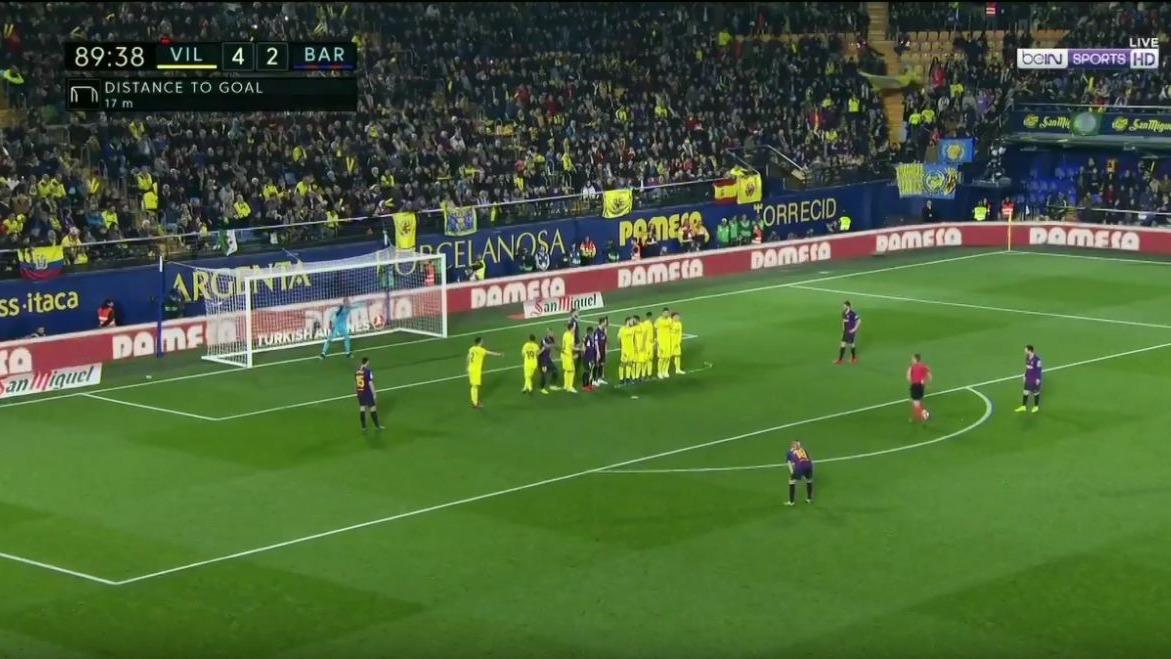 Lionel Messi marcó el 4-3 de tiro libre.