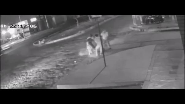 Las imágenes graban el feroz ataque del perro a una pareja de esposos.