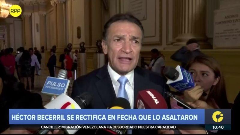 Héctor Becerril dice ahora que el intento de asalto del que fue víctima fue hace tres meses.