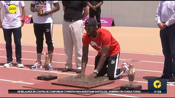 La leyenda del atletismo mundial, el jamaiquino Usain Bolt.